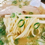 ふくちゃんラーメン - 麺は少し博多とは違って中細麺で久留米一歩手前って感じ?