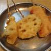 酒の奥田 - 料理写真:串カツ れんこん、エリンギ、ベーコン