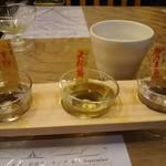 鈴徳 - 日本酒飲み比べ 980円