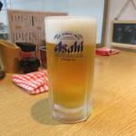 酒の奥田 - 生ビール(中)