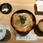 浅野屋 - カツ丼セット これに蕎麦がつきます