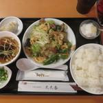 天天香 - 玉子と五目野菜炒め定食