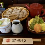 そば茶屋 極楽坊 - 野菜天ざる(1,480円)