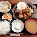 金太郎 - サイコロステーキ1.5倍定食 650円