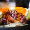 ミート矢澤 - 料理写真:デミグラスチーズハンバーグ L size 目玉焼きトッピング