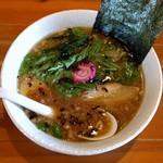 麺や 白 - 焦がし醤油ラーメン・温(※460円)