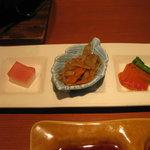 7274148 - 前菜盛り 三種