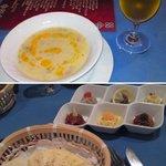Isutamburuhanedan - スープ。前菜の盛り合わせ+トルコパン