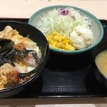 72740146 - ヒレかつ丼ポテサラセット