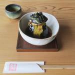 岳 - 料理写真:戸隠産丸なすの揚げ浸し