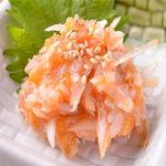 肉×魚×日本酒 照 - 『鮫軟骨の梅水晶』