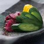 肉×魚×日本酒 照 - 『お新香盛り合わせ』