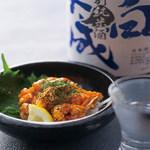 肉×魚×日本酒 照 - 『クリームチーズチャンジャ』