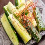 肉×魚×日本酒 照 - 『たたききゅうり』