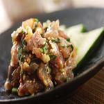 肉×魚×日本酒 照 - 『鯵のなめろう』