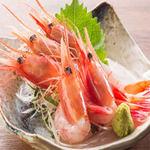 肉×魚×日本酒 照 - 『甘海老の刺身』