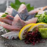肉×魚×日本酒 照 - 『鯵の刺身』