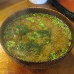銀寿司 - お味噌汁