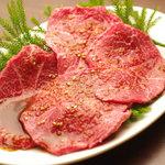 焼肉グレート - しっとりした上品な上赤身肉のとうがらし 1430円(税別)