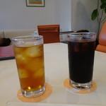 フルーツカフェ オレンジ - アイスティー、アイスコーヒー