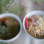 チョムパイ - 2017/04/02 スープ、サラダ