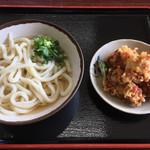 上田製麺所 - 料理写真:うどん1玉200円 温出汁で! 鶏天は150円