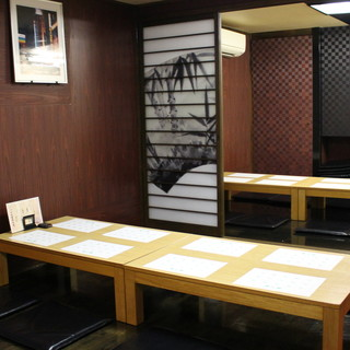 個室が全4部屋!2名様~最大30名様OKの純和風空間。