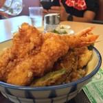 さん天 - イカと海老の天丼  590円