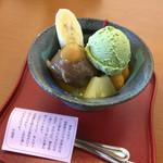 竹風堂 - 料理写真:クリーム栗あんみつ777円  特製の栗あんやアイス、フルーツ、みつのバランスがいい!