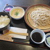 手打ち蕎麦きらく庵 - 料理写真:ミニとろろ丼セット  \750