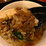 金太郎 - 汁だく牛すき焼き丼でシメました