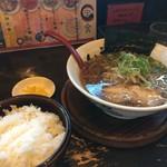 山神山人 - 醤油ラーメンとご飯が登場です(2017.9.8)