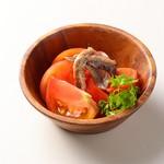 アンチョビと冷たいトマト