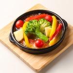 彩り野菜のアヒージョ