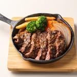 ハラミ鉄板ステーキ
