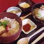 ふくい 望洋楼 - 海鮮バラちらしと越前おろし蕎麦 ¥1,600- (※一日限定10食)