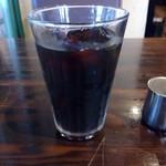 72773873 - ランチのアイスコーヒー。(ライス・パン・スープ・ドリンクから3品を選択。)