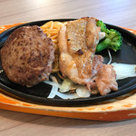 ステーキのどん - ハンバーグ(130g)&ハーフチキン グリルランチ 754円(税込)