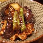72782522 - 茄子と豚肉の味噌炒め