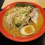 北海道十勝らーめん 木の葉 - 料理写真:合わせ味噌らーめん(720円、斜め上から)