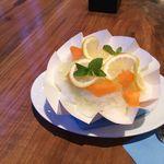 ペストリーショップ - フレッシュフルーツ KAKIGORI メロン&レモン