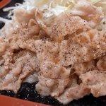 豚菜キッチン 絆 - 美湯豚(びゆうとん)の生姜焼きセット