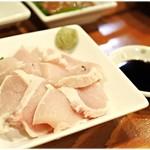 居酒屋 武双 - 料理写真:鶏ムネ肉タタキ 600円 新鮮しっとり♪