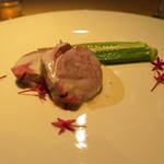 レストラン パティスリー ジェイエス - オーストラリア産子羊肉のWクック 西京みそとブルーチーズソースで