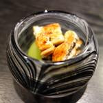 麻布十番松栄寿司 - 鰻炭火焼、マスカット・きゅうりの酢の物