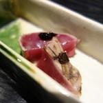 麻布十番松栄寿司 - かつお、にんにく
