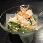 麻布十番松栄寿司 - いくらの醤油漬け、山菜
