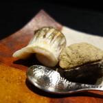 麻布十番松栄寿司 - 焼きカマス、トリュフ栗