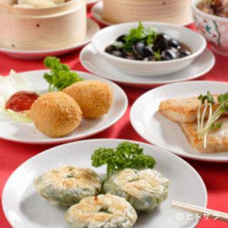 本場中国の調理人の作る点心は美味!