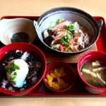 ジョイフル - ひじきご飯と豚しゃぶのみぞれ煮朝食¥590 2017.7.1